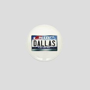 Texas License Plate [DALLAS] Mini Button